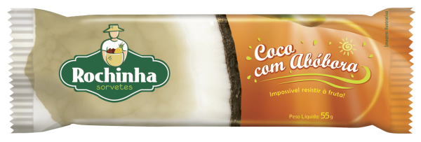 Picolé de Coco com Abóbora - Rochinha
