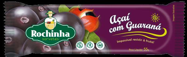 Picolé de Açaí com Guaraná - Sorvetes Rochinha
