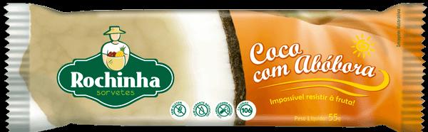 Picolé de Coco com abóbora - Sorvetes Rochinha