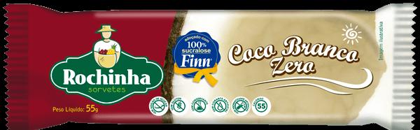 Picolé de Coco branco ZERO açúcar - Sorvetes Rochinha
