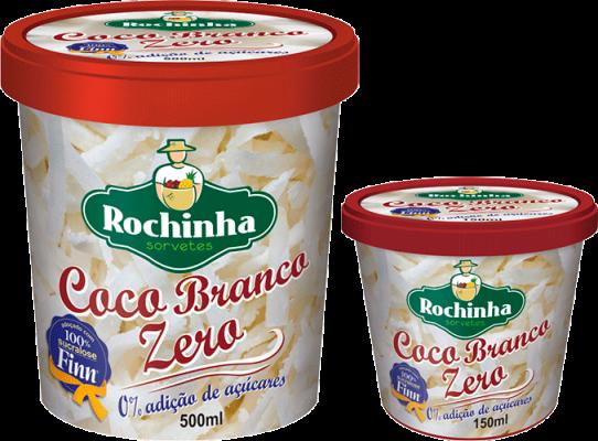 Pote - Coco Branco Zero - Sorvetes Rochinha